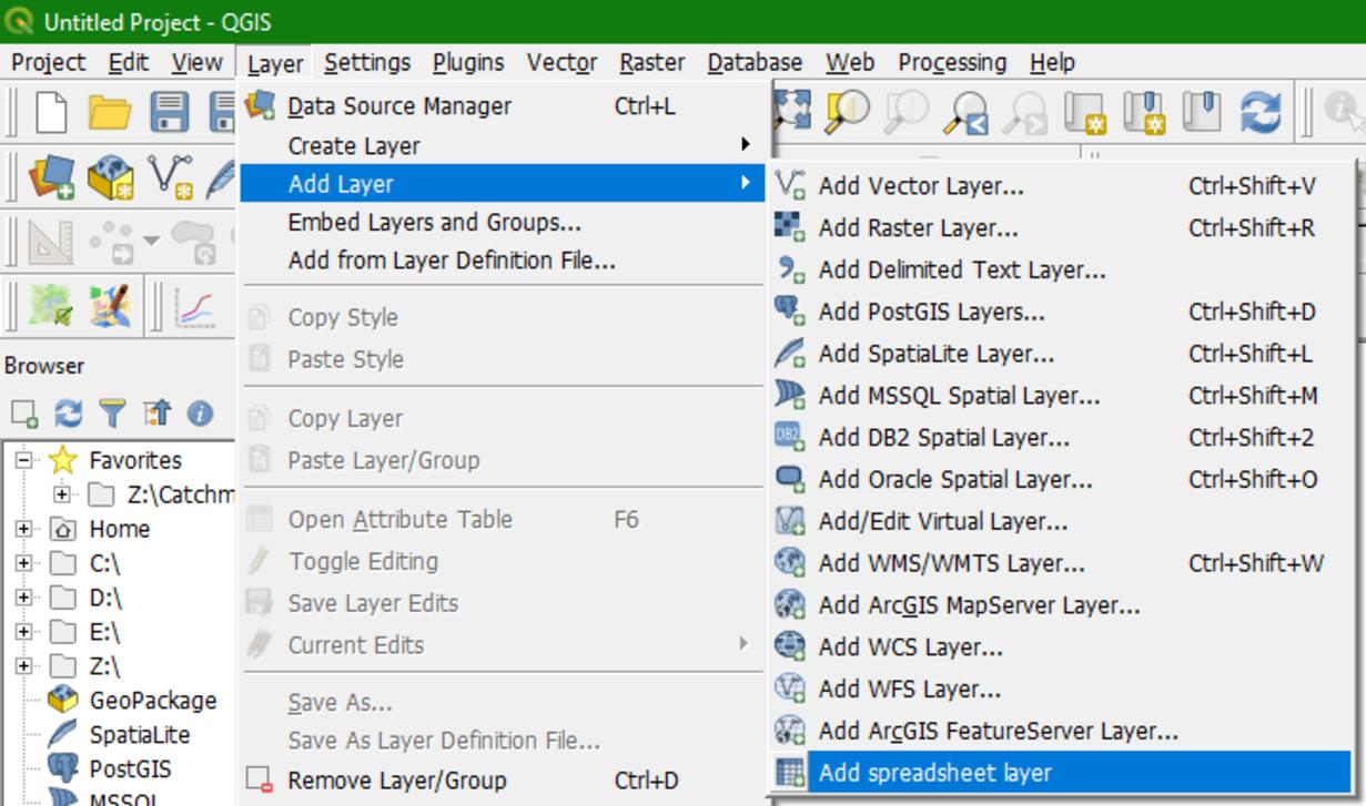add spreadsheet layer