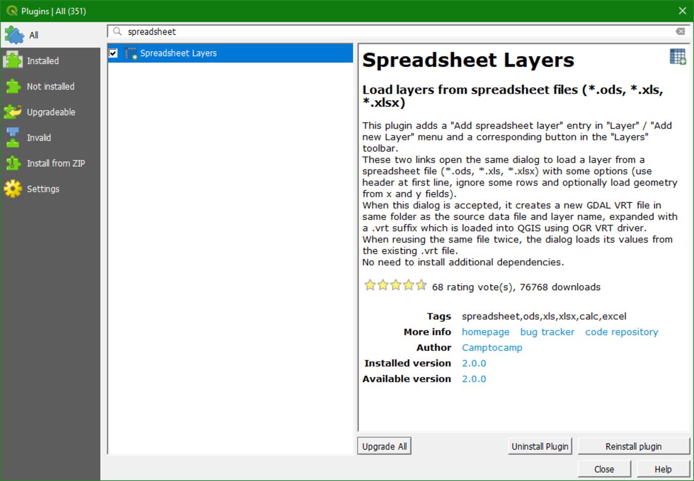Spreadsheet Layers plugin