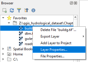 browser layer propertie
