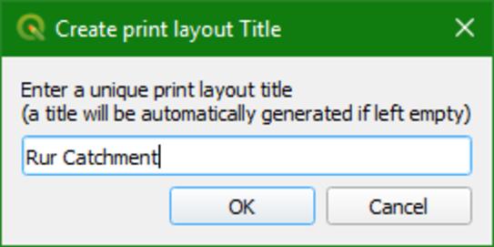 create print layout title