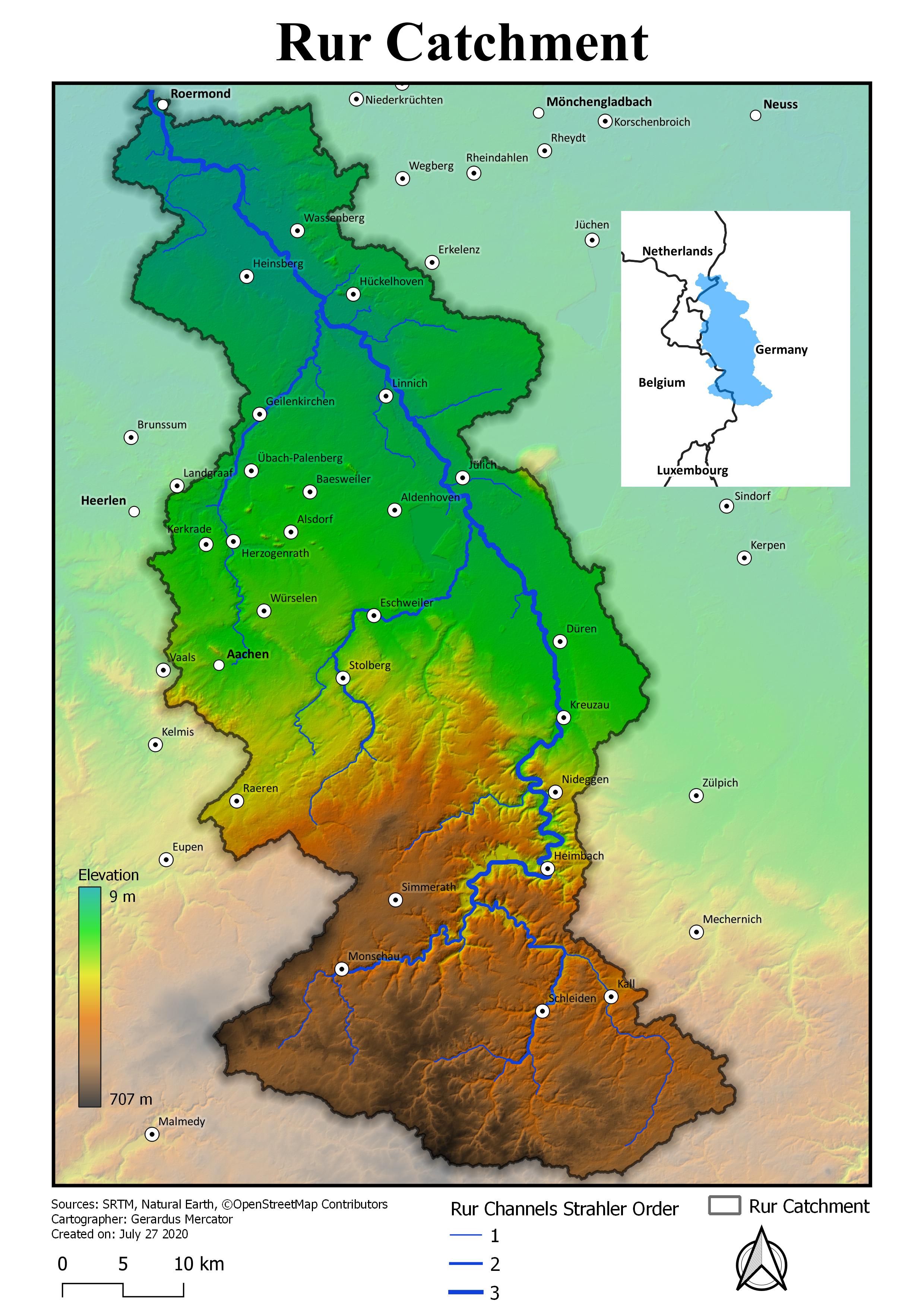 Rur catchment final map