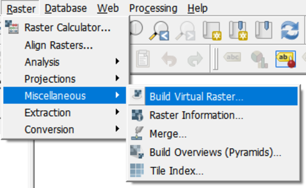 build virtual raster