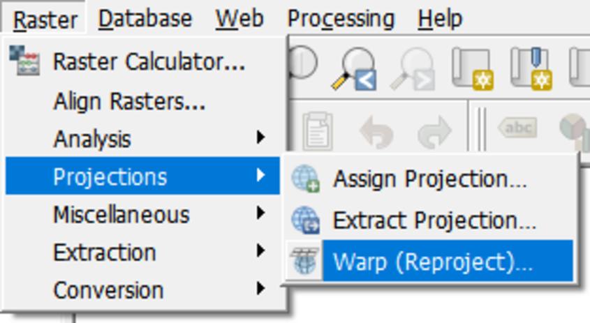raster projections warp