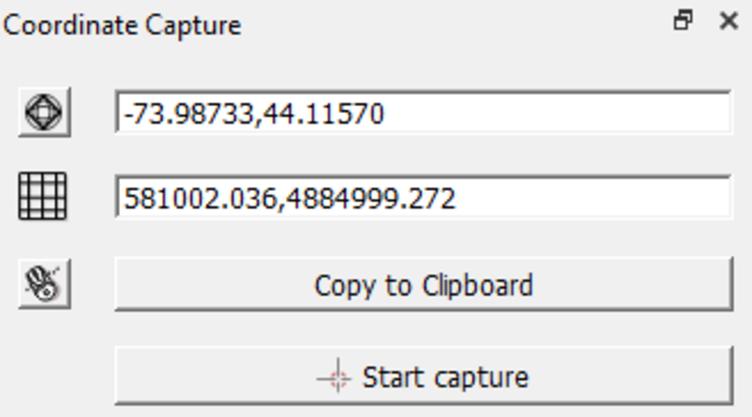 coordinate capture panel