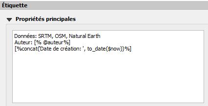 variable dans le texte descriptif